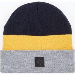 Czapka w paski - Żółty. Żółte czapki męskie Reserved, w paski. Za 39,99 zł.