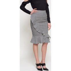 Missguided - Spódnica. Szare spódniczki z wysokim stanem Missguided, s, z bawełny, midi, dopasowane. W wyprzedaży za 59,90 zł.