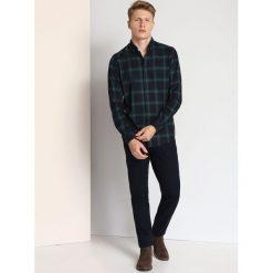 KOSZULA DŁUGI RĘKAW MĘSKA SLIM FIT. Szare koszule męskie slim marki House, l, z bawełny. Za 59,99 zł.