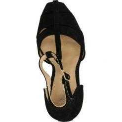 CZÓŁENKA CASU K9048. Czarne buty ślubne damskie Casu, na koturnie. Za 64,99 zł.
