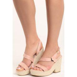 Różowe Sandały Sheets. Czerwone sandały damskie vices, na koturnie. Za 24,99 zł.