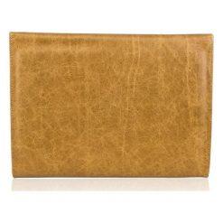 Skórzana aktówka do ręki Solier DESTIN jasny brąz. Brązowe aktówki męskie marki Solier, z bawełny. Za 279,00 zł.