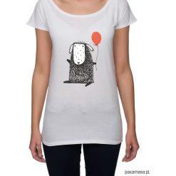 Koszulka damska z owieczką. Szare bluzki nietoperze Pakamera, z nadrukiem. Za 85,00 zł.
