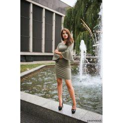 LATORI - Sukienka Damska Ołówkowa LM23/3. Szare sukienki balowe Pakamera, na imprezę, z dzianiny, z dekoltem w łódkę, mini, ołówkowe. Za 101,00 zł.