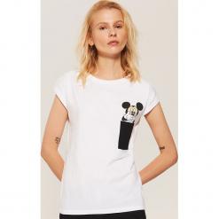 Koszulka piżamowa Mickey Mouse - Biały. Czarne koszule nocne i halki marki Reserved, l. Za 35,99 zł.