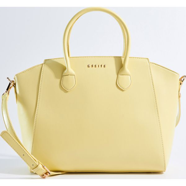 57888f15c0de2 Torba typu city bag Żółte torebki klasyczne damskie marki jpg 600x600 Torba  typu city bag
