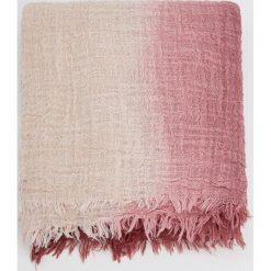 Dwukolorowy szal z bawełny. Różowe szaliki damskie Pull&Bear, z bawełny. Za 55,90 zł.