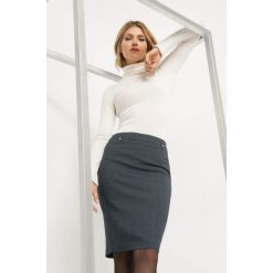 Ołówkowa spódnica. Niebieskie spódniczki ołówkowe Orsay, z elastanu, midi. Za 99,99 zł.
