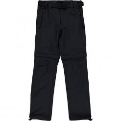 Spodnie Zipp-Off w kolorze antracytowym. Szare spodnie chłopięce CMP Kids, w paski, z materiału. W wyprzedaży za 87,95 zł.