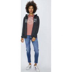 Roxy - Bluza. Białe bluzy z kieszeniami damskie marki Roxy, l, z nadrukiem, z materiału. Za 249,90 zł.