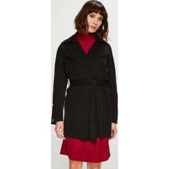 Vero Moda - Płaszcz Inge. Czarne płaszcze damskie Vero Moda, l, w paski, z elastanu. W wyprzedaży za 199,90 zł.