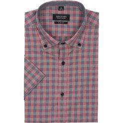 Koszula bexley 2305 krótki rękaw slim fit bordo. Szare koszule męskie jeansowe Recman, na lato, l, w kratkę, button down, z krótkim rękawem. Za 49,99 zł.