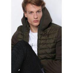 Ciemnozielona Kurtka Great Winter. Czarne kurtki męskie pikowane marki Born2be, m, z dresówki, z kapturem. Za 199,99 zł.