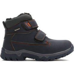 Granatowe Traperki Out In Front. Szare buty zimowe chłopięce marki New Balance, na lato, z materiału. Za 74,99 zł.