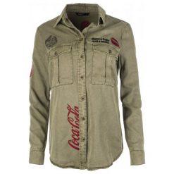 Desigual Koszula Damska Coca Cola M Khaki. Brązowe koszule wiązane damskie Desigual, m. Za 449,00 zł.