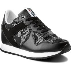 Sneakersy damskie: Sneakersy TOMMY JEANS - Tj Wedge Sequin Sneaker FW0FW03301  Black 990
