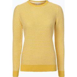 Marie Lund - Sweter damski, żółty. Żółte swetry klasyczne damskie Marie Lund, m, z dzianiny, z okrągłym kołnierzem. Za 99,95 zł.