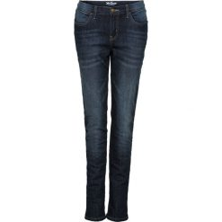 Jeansy damskie: Dżinsy ocieplane ze stretchem BOYFRIEND bonprix ciemnoniebieski