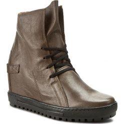 Sneakersy EKSBUT - 75-3975-065/0ST-1G Brąz Licowa. Brązowe sneakersy damskie Eksbut, z materiału. W wyprzedaży za 219,00 zł.