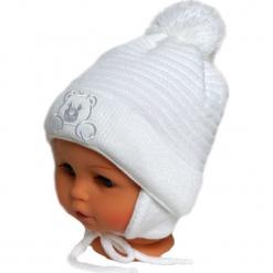 Czapka niemowlęca z szalikiem CZ+S 010A. Szare czapeczki niemowlęce Proman. Za 36,70 zł.