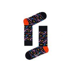 Skarpetki Happy Socks  PAP01-9000. Szare skarpetki męskie Happy Socks, z bawełny. Za 34,90 zł.