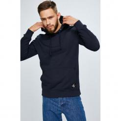 Calvin Klein Jeans - Bluza. Szare bejsbolówki męskie Calvin Klein Jeans, l, z bawełny, z kapturem. Za 449,90 zł.