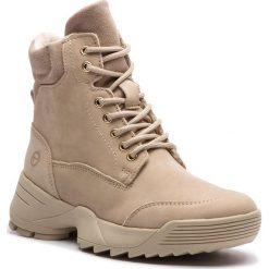 Trapery TAMARIS - 1-25710-31 Beige 400. Brązowe buty zimowe damskie marki Tamaris, z nubiku. Za 349,90 zł.
