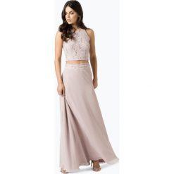 Długie sukienki: Swing - Damska sukienka wieczorowa, beżowy