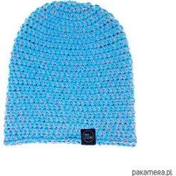 Czapka bawełniana OTON. Niebieskie czapki damskie Pakamera, z bawełny. Za 109,00 zł.