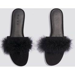 Chodaki damskie: NA-KD Shoes Letnie klapki Feather - Black