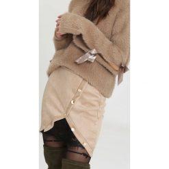 Spódniczki: Beżowa Spódnica Cease