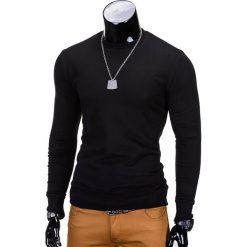 BLUZA MĘSKA BEZ KAPTURA B700 - CZARNA. Czarne bluzy męskie Ombre Clothing, m, z bawełny, bez kaptura. Za 59,00 zł.