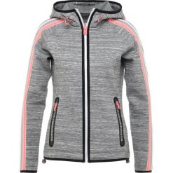 Bluzy damskie: Superdry GYMTECH BOUNCE ZIPHOOD Bluza rozpinana grey super grit