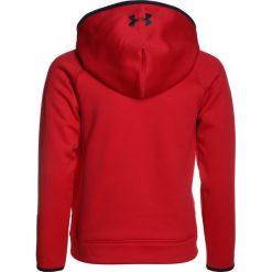 Under Armour BIG LOGO HOODY Bluza z kapturem red. Czerwone bluzy chłopięce rozpinane marki Under Armour, z materiału, z kapturem. W wyprzedaży za 132,30 zł.