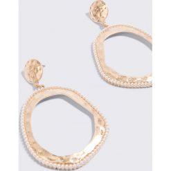 Kolczyki damskie: MANGO Wytłaczane kolczyki koła – Gold