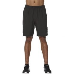 Asics Spodenki męskie Asics Short 9IN czarne r. S (141083-0904). Czarne spodenki sportowe męskie Asics, sportowe. Za 132,08 zł.