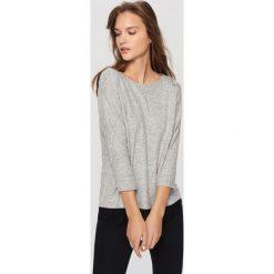 Kardigany damskie: Sweter z koronką – Jasny szar