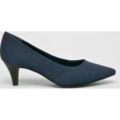 Tamaris - Czółenka. Szare buty ślubne damskie marki Tamaris, z materiału, na obcasie. W wyprzedaży za 99,90 zł.