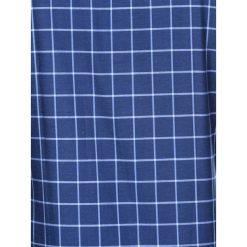 KOSZULA MĘSKA W KRATĘ Z DŁUGIM RĘKAWEM K417 - GRANATOWA/BŁĘKITNA. Brązowe koszule męskie na spinki marki Ombre Clothing, m, z aplikacjami, z kontrastowym kołnierzykiem, z długim rękawem. Za 49,00 zł.
