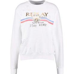 Bluzy damskie: Replay Bluza white