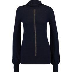 Swetry klasyczne damskie: Sisley TURTLE  Sweter navy