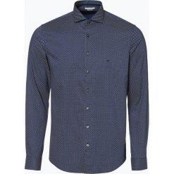 Calvin Klein - Koszula męska, niebieski. Pomarańczowe koszule męskie marki Calvin Klein, l, z bawełny, z okrągłym kołnierzem. Za 249,95 zł.