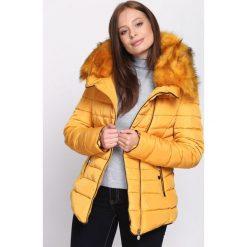 Żółta Kurtka Make the Grade. Brązowe kurtki damskie pikowane marki QUECHUA, na zimę, m, z materiału. Za 159,99 zł.