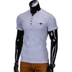 T-shirty męskie: T-SHIRT MĘSKI BEZ NADRUKU S764 – SZARY