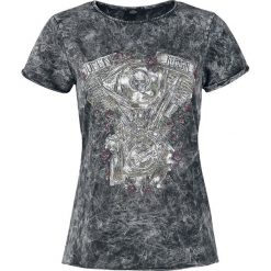 Queen Kerosin V2 Motor Koszulka damska czarny. Czarne t-shirty damskie Queen Kerosin, xl, z nadrukiem, z okrągłym kołnierzem. Za 121,90 zł.