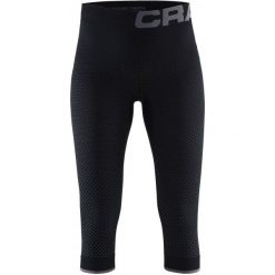 Craft Spodnie Termoaktywne Knickers Warm Intensity Black M. Czarne spodnie damskie narciarskie Craft, m, ze skóry. W wyprzedaży za 129,00 zł.