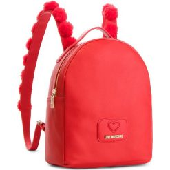 Plecak LOVE MOSCHINO - JC4287PP06KL0 Rosso. Czerwone plecaki damskie marki Love Moschino, ze skóry ekologicznej, eleganckie. Za 959,00 zł.