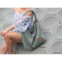Torebki klasyczne damskie: Duża torba worek MC7 – dark green