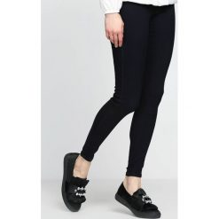 Spodnie damskie: Granatowe Spodnie Militate