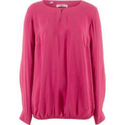Bluzki asymetryczne: Bluzka z gumką, długi rękaw bonprix jeżynowo-czerwony